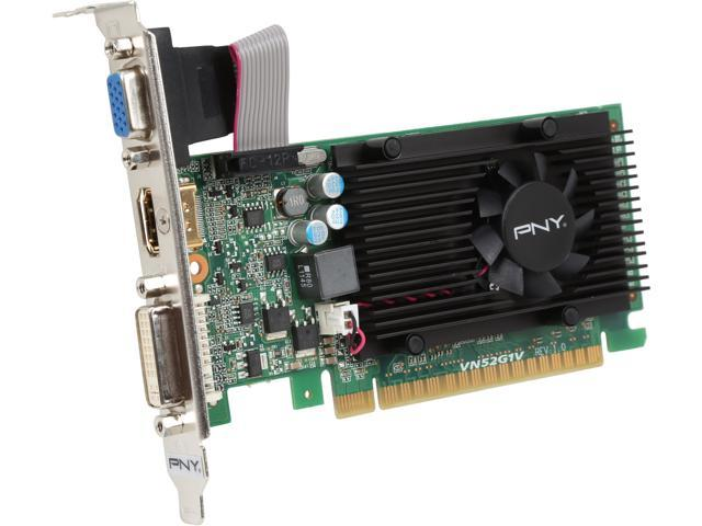 PNY RVCGGT5201XXB GeForce GT 520 (Fermi) 1GB 64-Bit DDR3 PCI Express 2.0 x16 HDCP Ready Low Profile Ready Video Card Manufactured Recertified