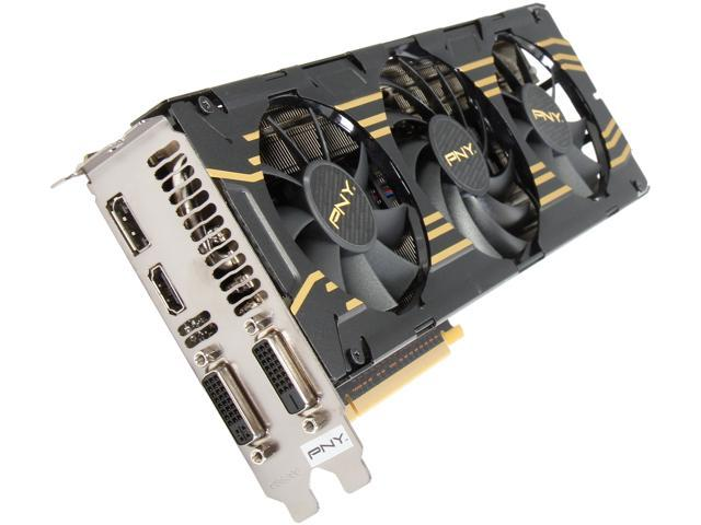 PNY VCGGTX7803XPB-OC G-SYNC Support GeForce GTX 780 3GB 384-Bit GDDR5 PCI Express 3.0 x16 SLI Support Video Card