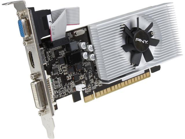 PNY GT 700 GeForce GT 730 DirectX 12 (feature 11_0) VCGGT7302D3LXPB 2GB 128-Bit DDR3 PCI Express 2.0 Low Profile Ready Video Card