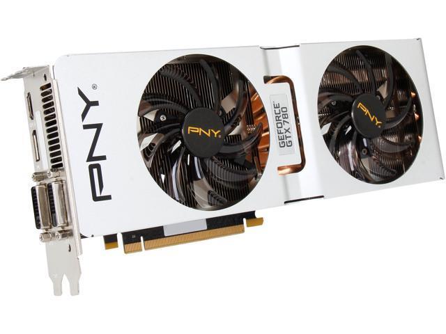 PNY VCGGTX7803XPB-CC GeForce GTX 780 3GB 384-Bit GDDR5 PCI Express 3.0 x16 SLI Support Video Card XLR8 Enthusiast Edition