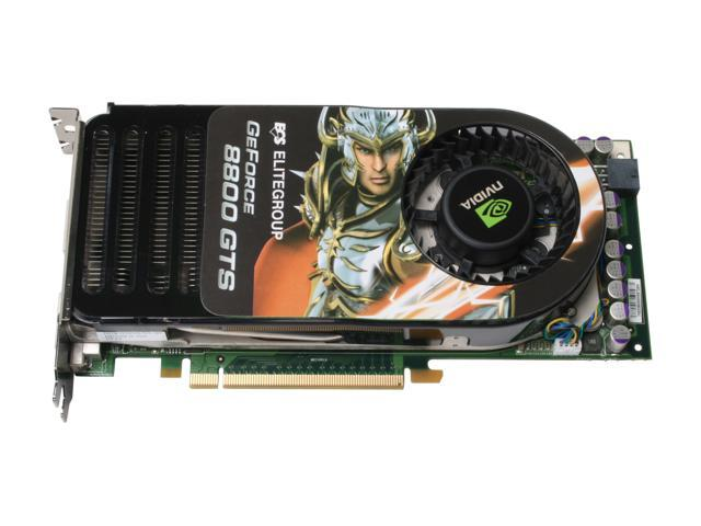 ECS N8800GTS-320MX GeForce 8800 GTS 320MB 320-bit GDDR3 PCI Express x16 HDCP Ready SLI Support Video Card