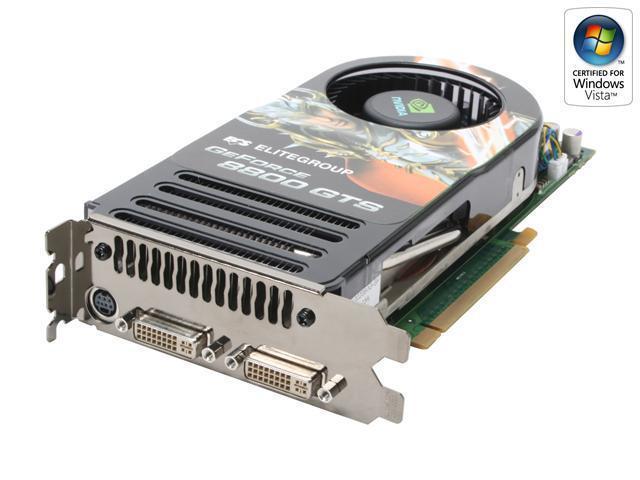 ECS N8800GTS-320MX GeForce 8800 GTS 320MB 320-bit GDDR3 PCI Express x16 HDCP Ready SLI Support Video Card