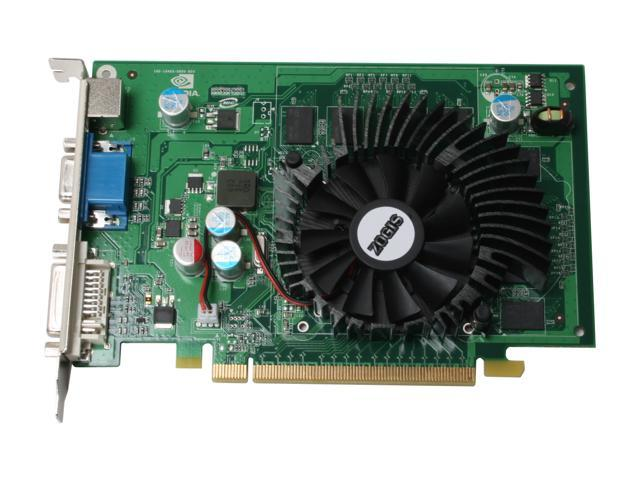 ZOGIS ZO85GT-E GeForce 8500 GT 512MB 128-bit GDDR2 PCI Express x16 HDCP Ready SLI Support Video Card