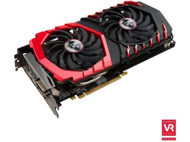 MSI Radeon RX 480 DirectX 12 RX 480 GAMING X 8G 8GB 256-Bit GDDR5 PCI Express 3.0 x16 HDCP Ready CrossFireX Support ATX Video Card
