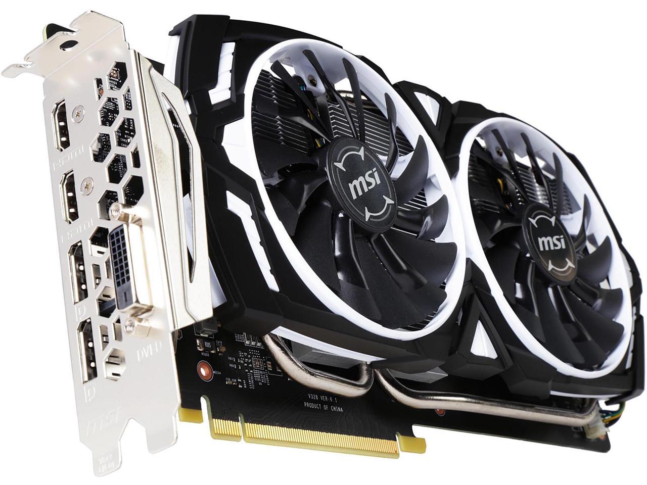 MSI GeForce GTX 1060 ARMOR 3G OCV1 3GB 192-Bit Graphics Card + NVIDIA GIFT - For Honor or Ghost Recon: Wildlands
