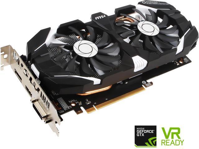 MSI GeForce GTX 1060 DirectX 12 GTX 1060 6GT OCV1 6GB 192-Bit GDDR5 PCI Express 3.0 x16 HDCP Ready ATX Video Cards