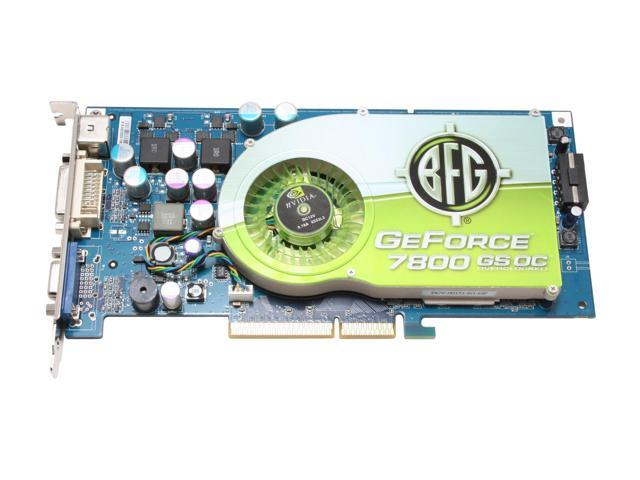 BFG Tech BFGR78256GSOC GeForce 7800GS 256MB 256-bit GDDR3 AGP 4X/8X Video Card