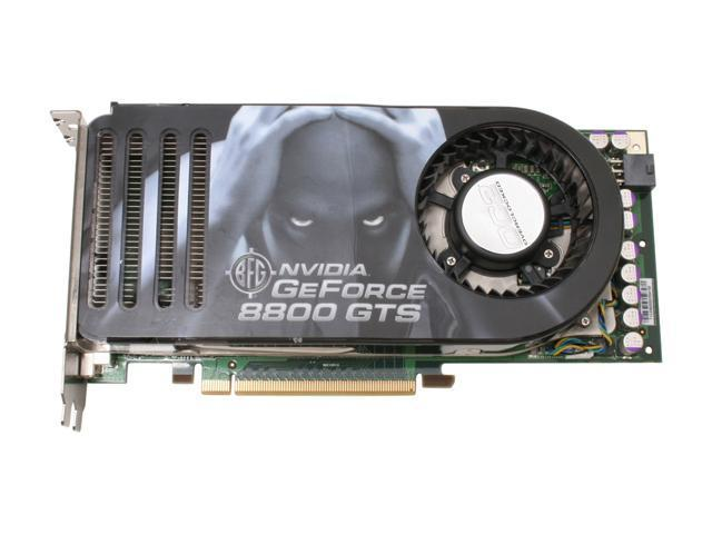 BFG Tech BFGR88320GTSOC2E GeForce 8800 GTS 320MB 320-bit GDDR3 PCI Express x16 HDCP Ready SLI Support Video Card