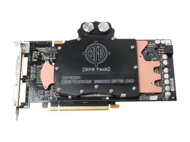 BFG Tech BFGR88640GTSOCWCE GeForce 8800 GTS 640MB 320-bit GDDR3 PCI Express x16 HDCP Ready SLI Support Video Card