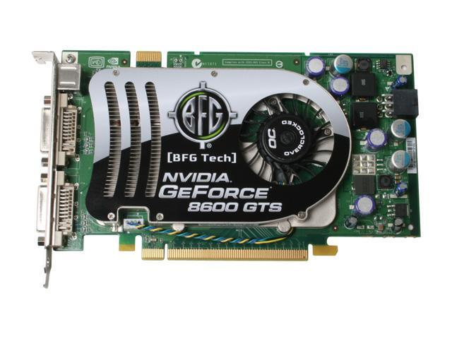BFG Tech BFGE86256GTSOCE GeForce 8600 GTS 256MB 128-bit GDDR3 PCI Express x16 HDCP Ready SLI Support Video Card