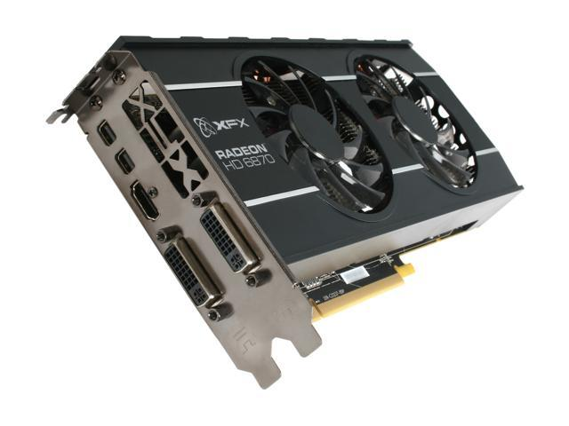 XFX Double D HD-687A-ZDFC Radeon HD 6870 1GB 256-bit GDDR5 PCI Express 2.1 x16 HDCP Ready CrossFireX Support Video Card with Eyefinity