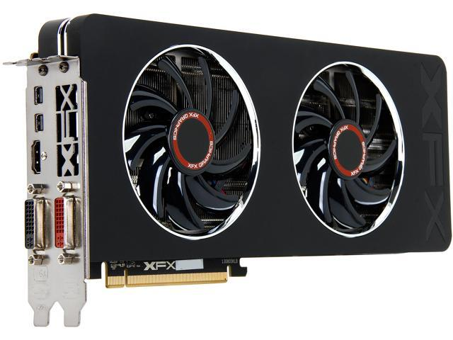 XFX Radeon R9 280X DirectX 11.2 R9-280X-TDFD 3GB 384-Bit GDDR5 PCI Express 3.0 x16 CrossFireX Support Double Dissipation Edition Video Card