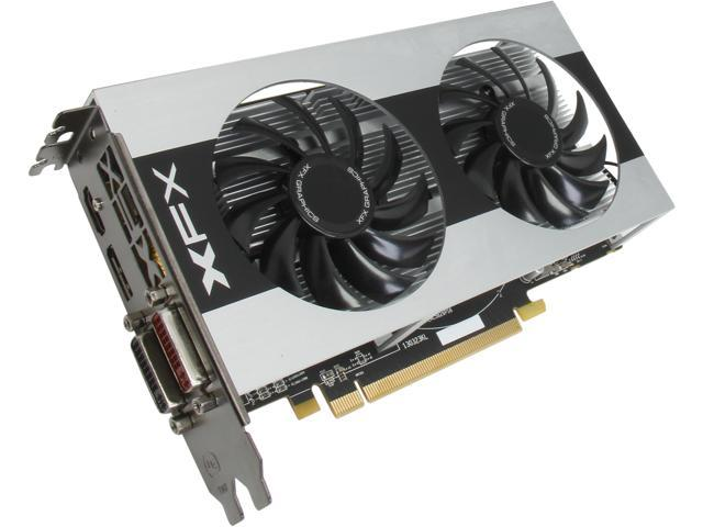 XFX Radeon R7 260X DirectX 11.2 R7-260X-CDF4 2GB 128-Bit DDR5 PCI Express 3.0 x16 HDCP Ready CrossFireX Support Double Dissipation Edition Video Card
