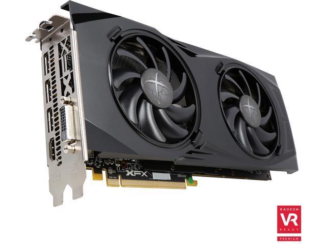 XFX Radeon GTR RX 480 DirectX 12 RX-480P8DBA6 8GB 256-Bit GDDR5 PCI Express 3.0 CrossFireX Support Black Edition Video Card