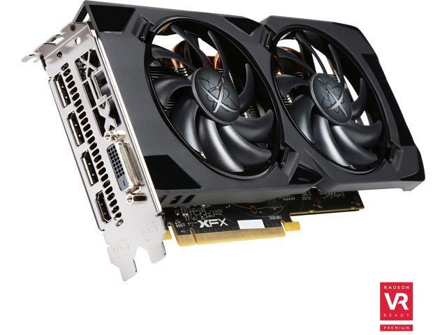 XFX Radeon RS RX 480 DirectX 12 RX-480P836BM 8GB 256-Bit GDDR5 PCI Express 3.0 CrossFireX Support Video Card