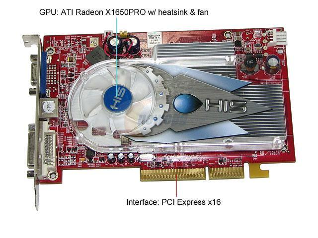 HIS H165PRF512N-R Radeon X1650PRO 512MB 128-bit GDDR2 PCI Express x16 CrossFireX Support Video Card