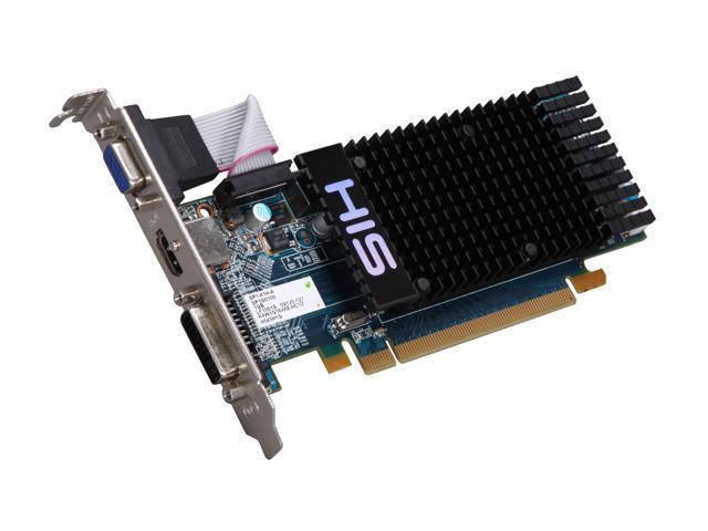 HIS Radeon HD 5450 (Cedar) DirectX 11 H545H1G 1GB 64-Bit DDR3 PCI Express 2.1 x16 HDCP Ready Low Profile Ready Video Card