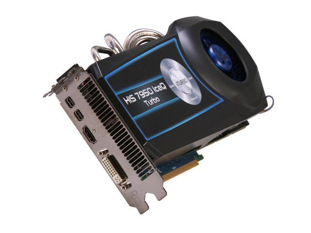 HIS IceQ Turbo Radeon HD 7950 DirectX 11 H795QT3G2M Video Card