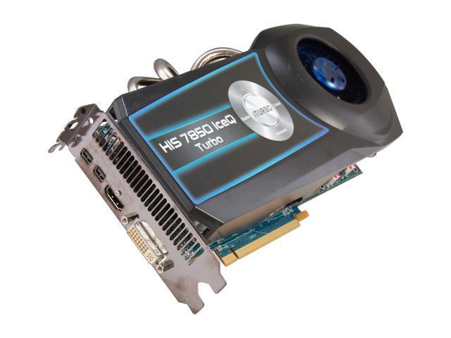 HIS IceQ Turbo Radeon HD 7850 DirectX 11 H785QT2G2M Video Card