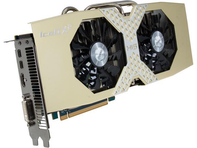 HIS IceQ X² OC Radeon R9 280 DirectX 11.2 H280QMC3G2M 3GB 384-Bit GDDR5 PCI Express 3.0 x16 HDCP Ready CrossFireX Support Video Card