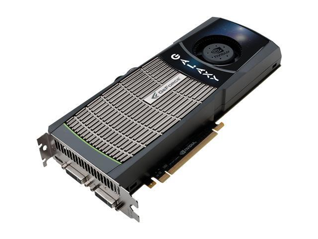 Galaxy GeForce GTX 480 (Fermi) DirectX 11 80XLH5HS8GUX 1536MB 384-Bit DDR5 PCI Express 2.0 x16 HDCP Ready SLI Support Video Card
