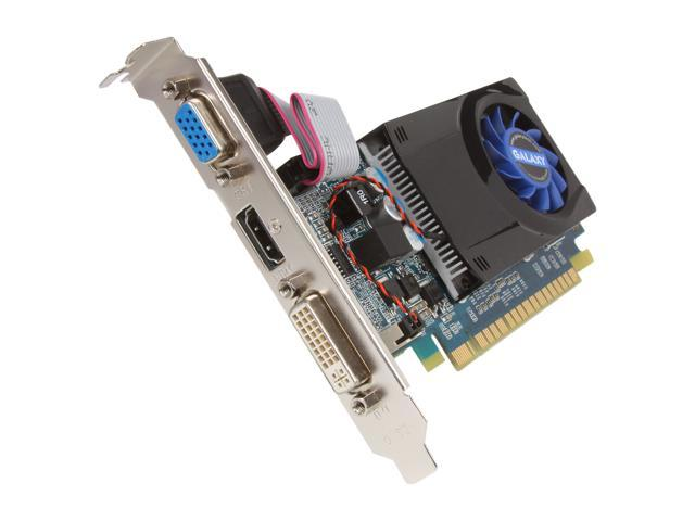 Galaxy GeForce 210 DirectX 10.1 21GGE8HX3BMX 1GB 64-Bit DDR2 PCI Express 2.0 x16 HDCP Ready Video Card