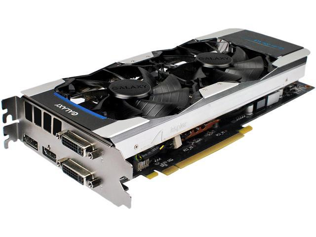Galaxy GeForce GTX 660 Ti DirectX 11 66INH7DV6KXZ 3GB 192-Bit GDDR5 PCI Express 3.0 x16 HDCP Ready SLI Support Video Card