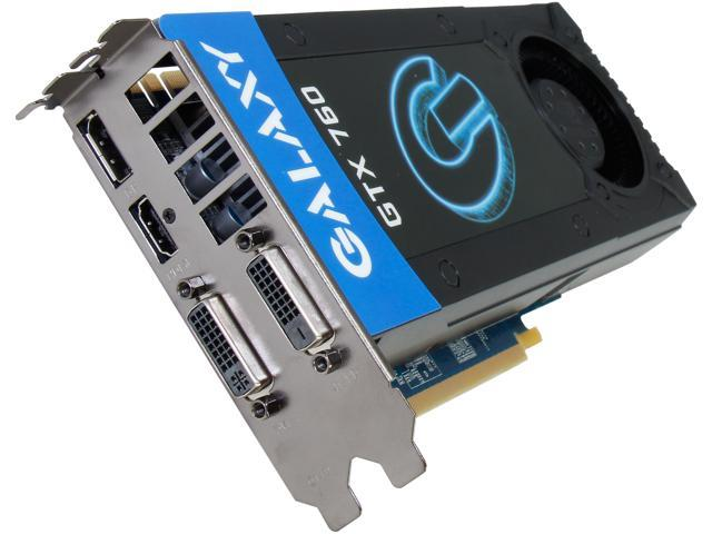 Galaxy 76XPH6DV6XSX G-SYNC Support GeForce GTX 760 2GB 256-Bit GDDR5 PCI Express 3.0 SLI Support Video Card