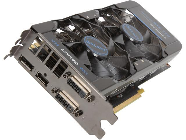 Galaxy 77XPH6DV6KTZ G-SYNC Support GeForce GTX 770 2GB 256-Bit GDDR5 PCI Express 3.0 SLI Support Video Card
