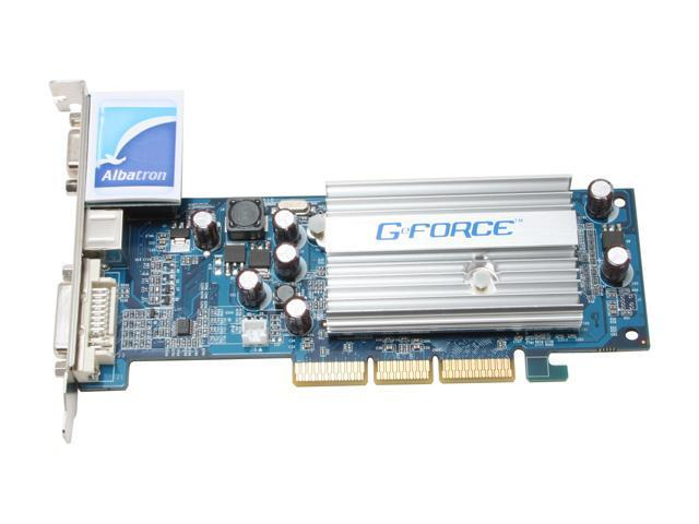 Albatron AGP6200ALQ GeForce 6200A 256MB 64-bit GDDR2 AGP 4X/8X Video Card