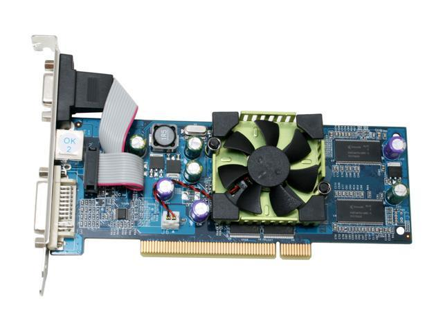 Albatron PCI-6200ALP Geforce 6200A 128MB 64-bit DDR PCI 2.1 Video Card