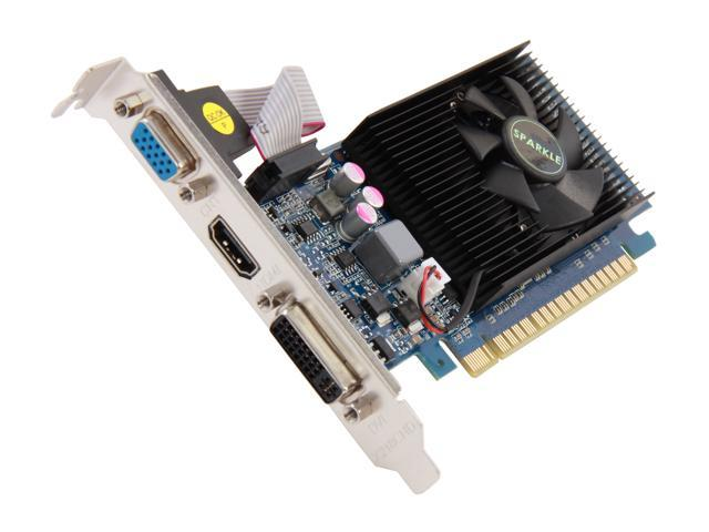 SPARKLE GeForce GT 610 DirectX 11 700008 2GB 64-Bit PCI Express 2.0 x16 HDCP Ready Low Profile Ready Video Card