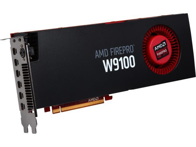 AMD FirePro W9100 100-505725 16GB 512-bit GDDR5 PCI Express 3.0 x16 CrossFire Supported Workstation Video Card