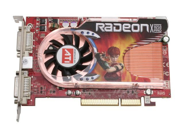 GECUBE GC-RX165GA2-D3(RoHS) Radeon X1650PRO 256MB 128-bit GDDR2 AGP 4X/8X Video Card