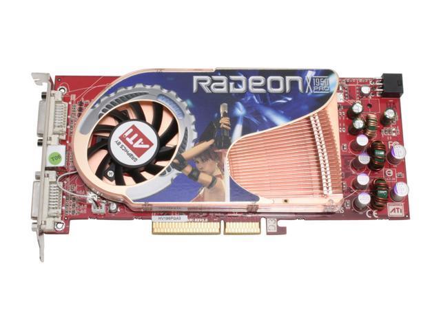 GECUBE GC- HV195PGA3-D3(R) Radeon X1950PRO 256MB 256-bit GDDR3 AGP 4X/8X HDCP Ready Video Card