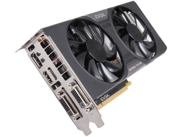 EVGA GeForce GTX 760 DirectX 11.1(feature level 11_0) 02G-P4-2763-RX 2GB 256-Bit GDDR5 PCI Express 3.0 SLI Support w/ EVGA ACX Cooler Video Card