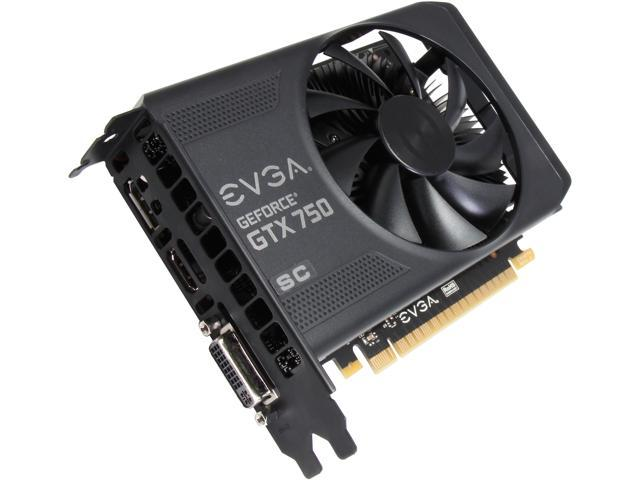 EVGA GeForce GTX 750 Superclocked DirectX 11.2 01G-P4-2753-KR Video Card