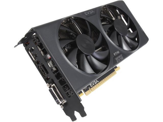 EVGA 01G-P4-2757-KR G-SYNC Support GeForce GTX 750 1GB 128-Bit GDDR5 PCI Express 3.0 FTW w/ ACX Cooler Video Card