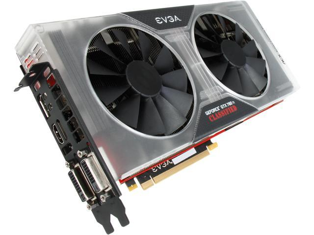 EVGA 03G-P4-3887-KR G-SYNC Support GeForce GTX 780 Ti Classified 3GB 384-Bit GDDR5 PCI Express 3.0 SLI Support K|NGP|N Reference Edition Video Card