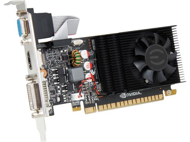EVGA GeForce GT 730 DirectX 12 (feature level 11_0) 02G-P3-2732-KR 2GB 128-Bit DDR3 PCI Express 2.0 Low Profile Ready Video Card