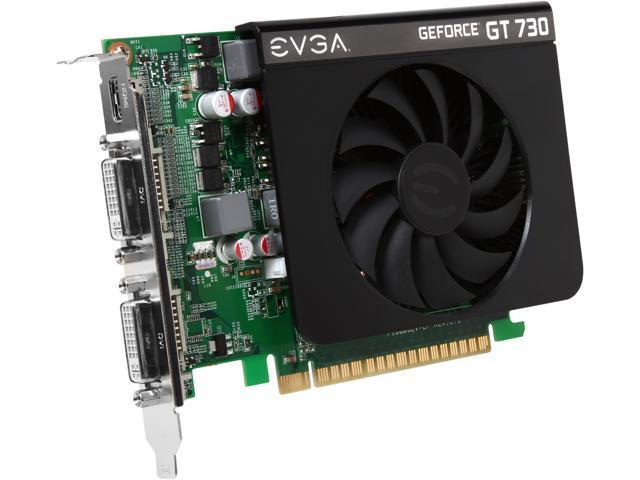 EVGA GeForce GT 730 DirectX 12 (feature level 11_0) 02G-P3-2738-KR 2GB 128-Bit DDR3 PCI Express 2.0 Video Card