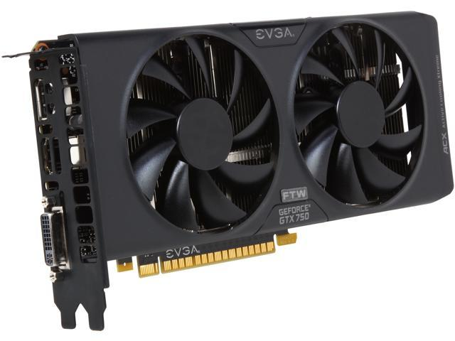 EVGA GeForce GTX 750 DirectX 11.2 02G-P4-2758-KR 2GB 128-Bit GDDR5 PCI Express 3.0 x16 Video Card (G-SYNC Support)