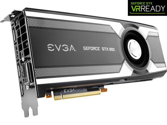 EVGA GeForce GTX 980 04G-P4-1980-KR 4GB GAMING, Silent Cooling Graphics Card
