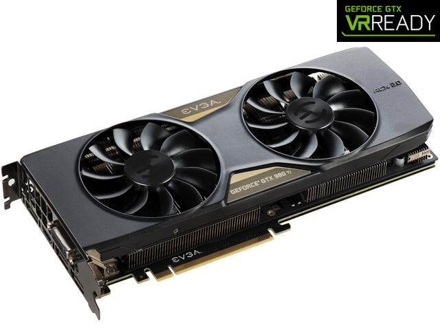 EVGA GeForce GTX 980 Ti 06G-P4-4996-KR 6GB FTW GAMING w/ACX 2.0+, Whisper Silent Cooling w/ Free Installed Backplate Graphics ...