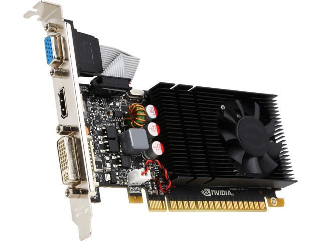 EVGA GeForce GT 730 DirectX 12 (feature level 11_0) 01G-P3-2730-RX 1GB 128-Bit DDR3 PCI Express 2.0 Low Profile Ready Video Card