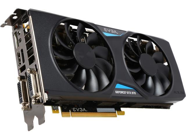 EVGA GeForce GTX 970 DirectX 12 04G-P4-2977-RX 4GB 256-Bit GDDR5 PCI Express 3.0 SLI Support Superclocked+ ACX 2.0 Video Card - Certfied Refurbished