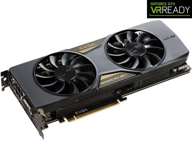 EVGA GeForce GTX 980 Ti DirectX 12 06G-P4-3994-KR GAMING ACX 2.0+ Video Card