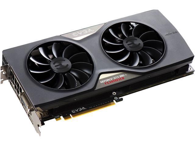 EVGA GeForce GTX 980 Ti DirectX 12 06G-P4-4997-KR Classified ACX 2.0+ Video Card
