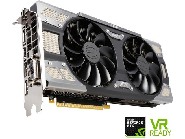 EVGA GeForce GTX 1070 FTW GAMING ACX 3.0, 08G-P4-6276-KR, 8GB GDDR5, RGB LED, 10CM FAN, 10 Power Phases, Double BIOS, DX12 OSD Support (PXOC)