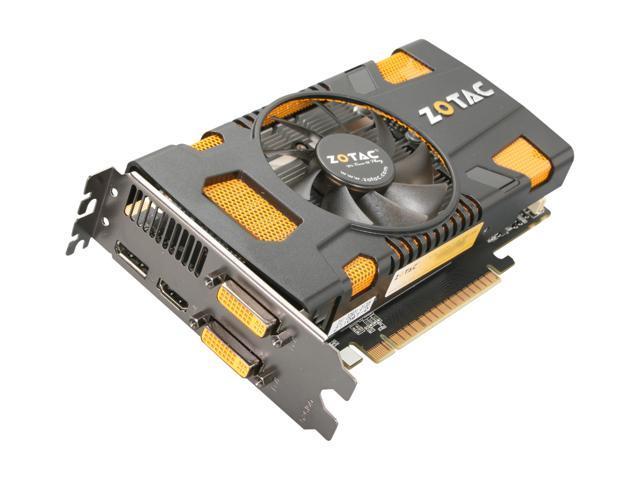ZOTAC ZT-50401-10L GeForce GTX 550 Ti (Fermi) 1GB 192-bit GDDR5 PCI Express 2.0 x16 HDCP Ready SLI Support Video Card